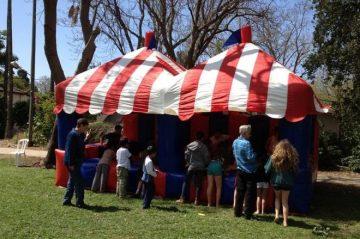 אוהל קרנבל מתנפח כפול